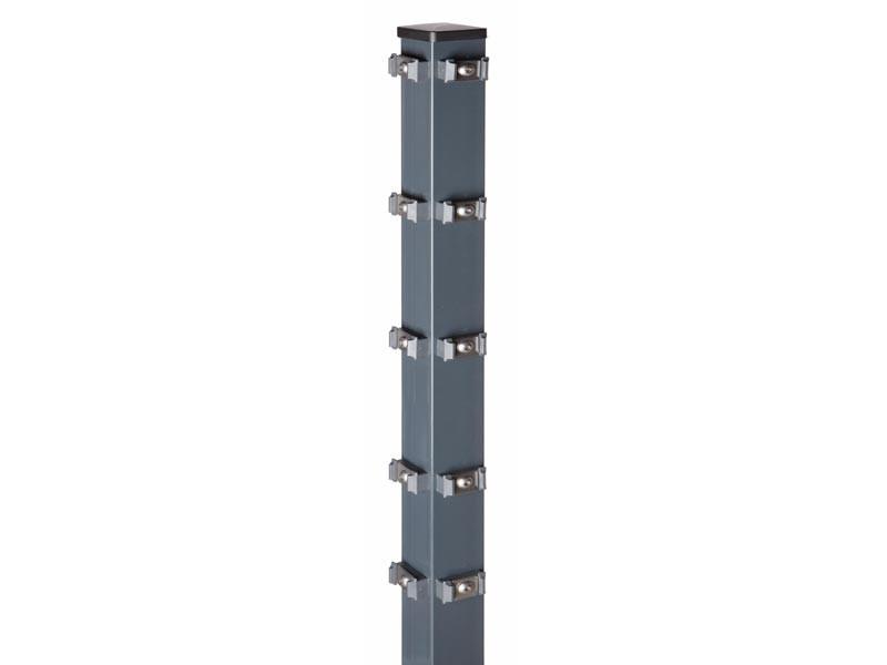 Zaunpfosten Doppelstabgitterzaun Eckpfosten Typ PM RAL 7016 anthrazitgrau- Länge: 1700 mm