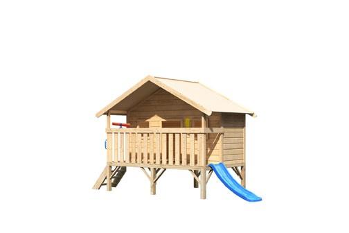 Akubi Spielhaus Maxi - Rutsche blau