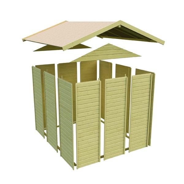 Akubi Spielhaus Maxi - Rutsche grün