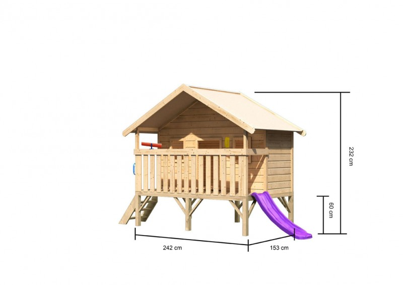 Akubi Spielhaus Maxi - Rutsche violett