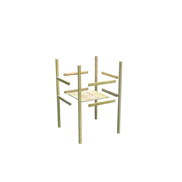 Akubi Spielturm Lotti Satteldach + Rutsche blau + Doppelschaukel