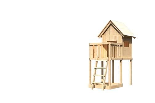 Akubi Spielhaus Frieda  mit Anbau