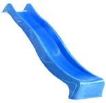 Akubi Spielturm Frieda mit Anbau  Satteldach + Rutsche blau + Doppelschaukel