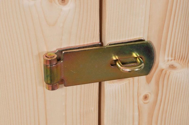 Woodfeeling Holz Gartenhaus Askola 3 - 19mm Flachdach - Farbe: sandbeige