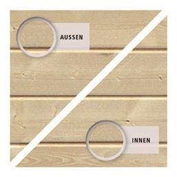 Woodfeeling Holz Gartenhaus Oranienburg 5 - 19mm Flachdach - Farbe: naturbelassen