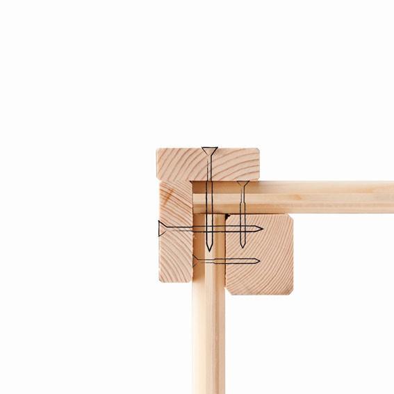 Woodfeeling Holz Gartenhaus Oranienburg 5 im Set mit Anbaudach  - 19mm Flachdach - Farbe: naturbelassen
