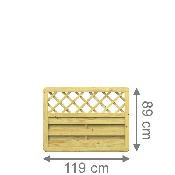 TraumGarten Sichtschutzzaun XL Rechteck mit Gitter kdi - 117 x 89 cm