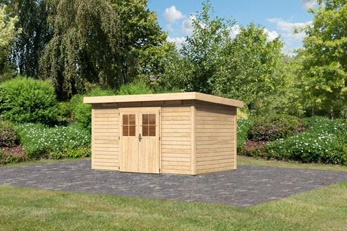 Karibu Holz Gartenhaus Kerpen 5 Farbe: naturbelassen