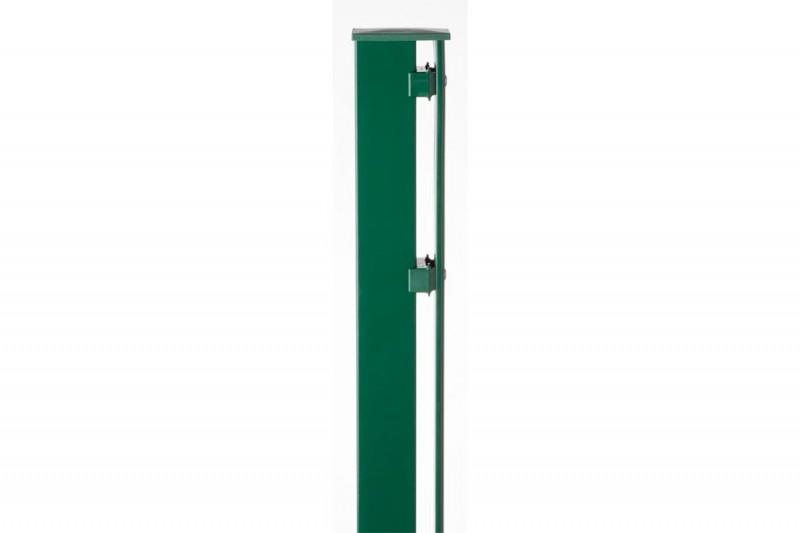 Zaunpfosten Doppelstabgitterzaun Typ P-fix RAL 6005 moosgrün  - Länge: 2400 mm