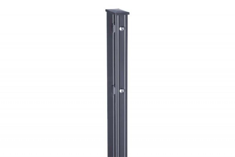 Zaunpfosten Doppelstabgitterzaun Typ P-fix RAL 7016 anthrazitgrau - Länge: 1500 mm