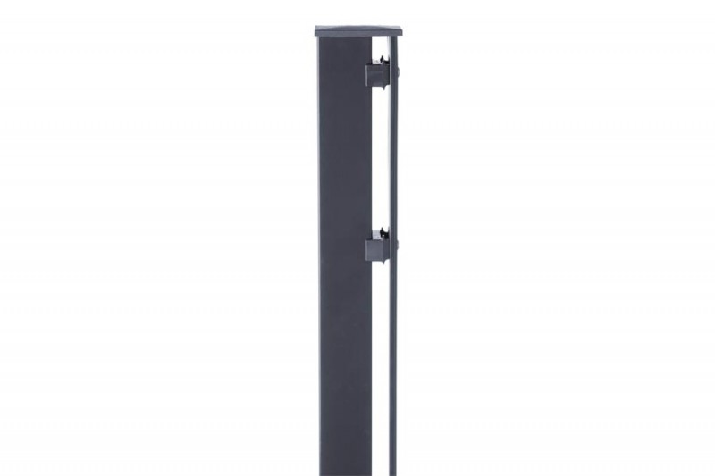 Zaunpfosten Doppelstabgitterzaun Typ P-fix RAL 7016 anthrazitgrau - Länge: 2000 mm
