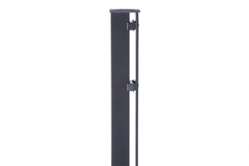 Zaunpfosten Doppelstabgitterzaun Typ P-fix RAL 7016 anthrazitgrau - Länge: 2400 mm