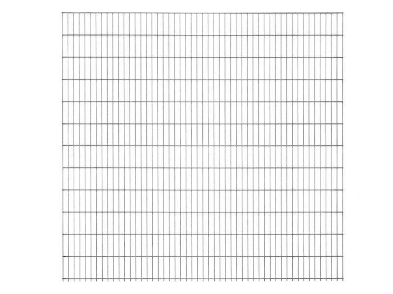 Doppelstabgitterzaun Metallzaun 6/5/6 MORITZ silbergrau verzinkt - Höhe: 2030 mm