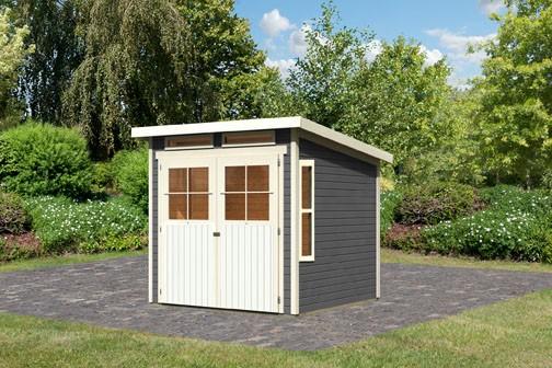 Gartenhaus Mosel 3 Farbe: terragrau