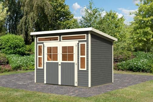 Gartenhaus Mosel 6 Farbe: terragrau