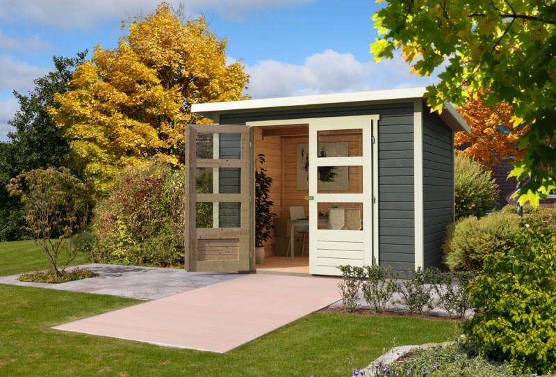 Gartenhaus Saar Farbe: terragrau