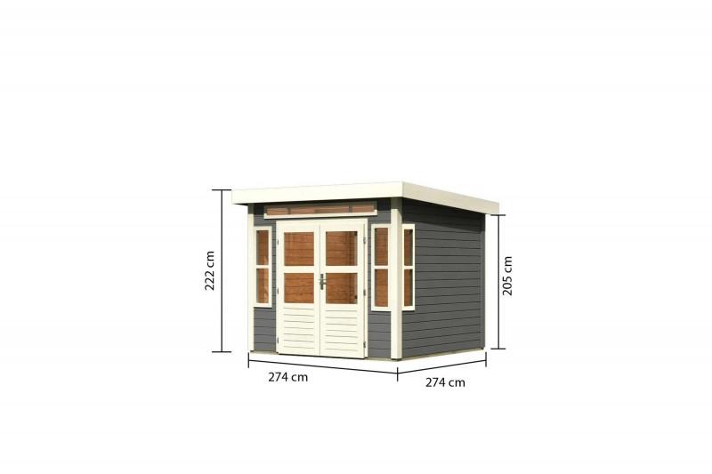 Gartenhaus Hunte 6 Farbe: terragrau