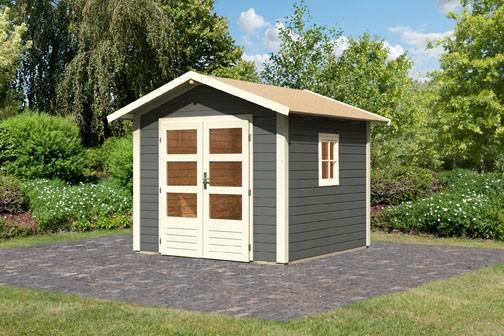 Gartenhaus Set Enz 1 Farbe: terragrau - inkl. Fenster
