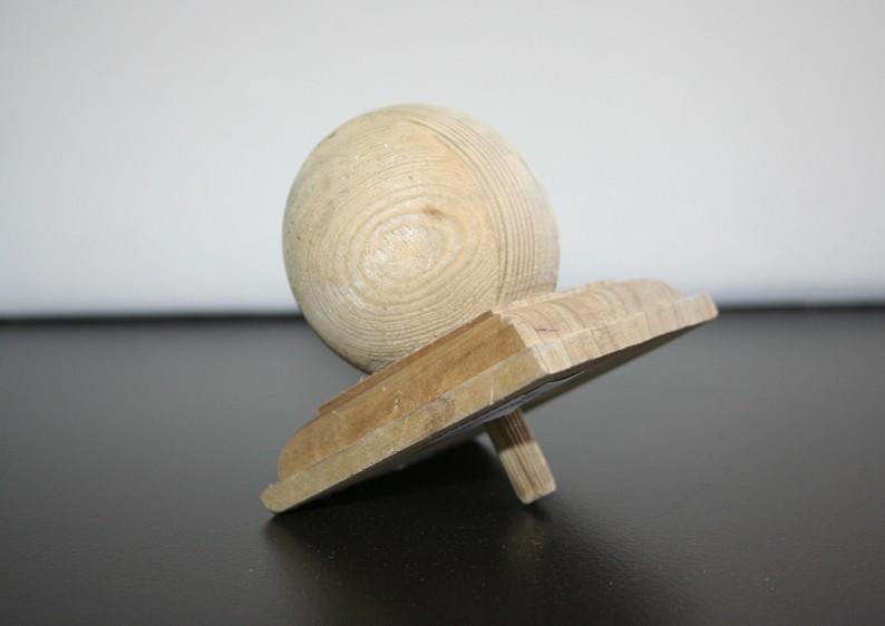 TraumGarten Pfostenkappe Holz Kugel - 11 x 11 cm