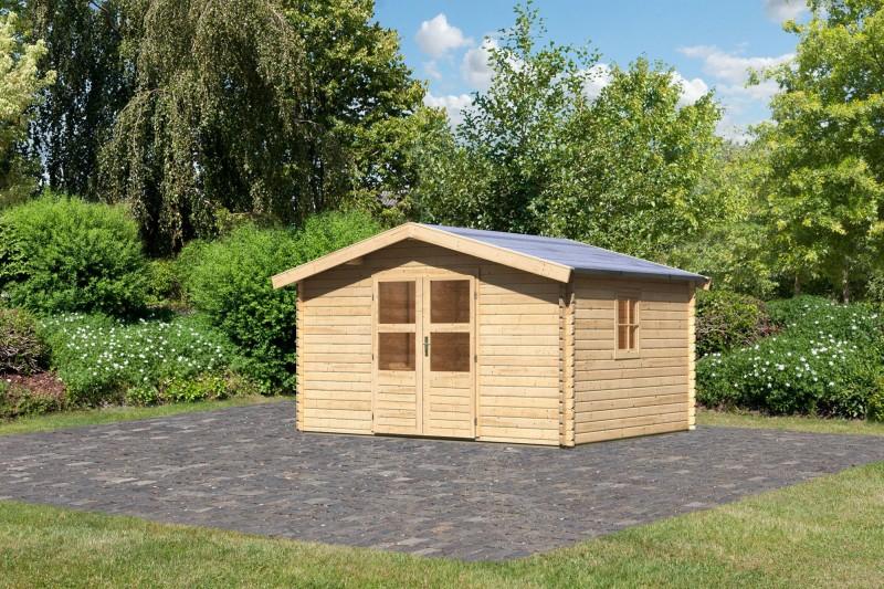 Gartenhaus Set Blockbohlenhaus Lenne 5 Farbe: naturbelassen inkl. Fußboden