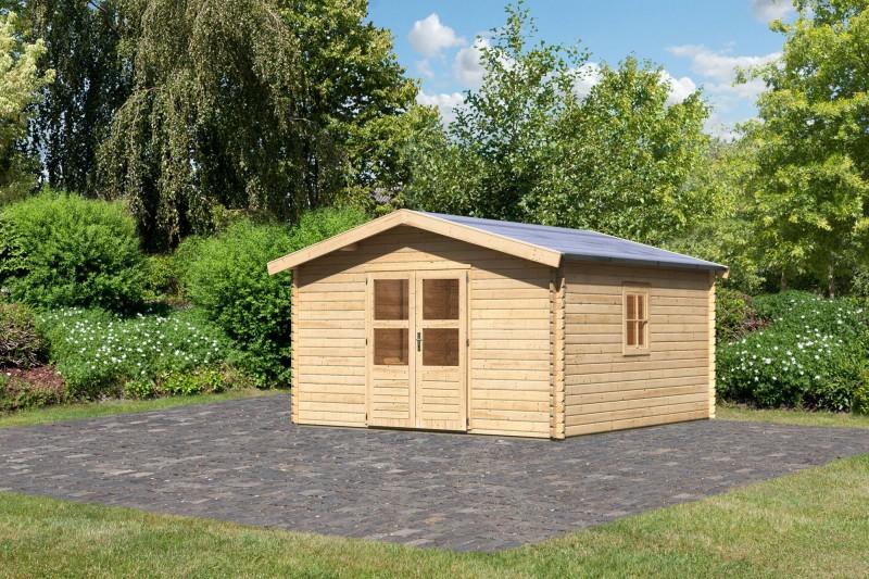 Gartenhaus Set Blockbohlenhaus Lenne 6 Farbe: naturbelassen inkl. Fußboden