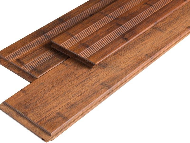Bambus Terrassendielen Set 15qm - Farbe: Coffee