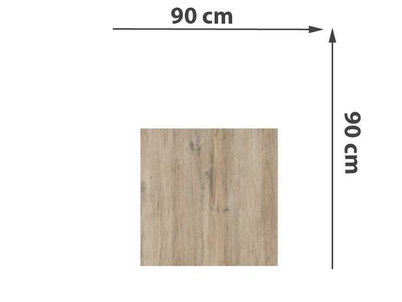 TraumGarten Sichtschutzzaun System Keramik Rechteck Eiche - 90 x 90 x 0,6 cm