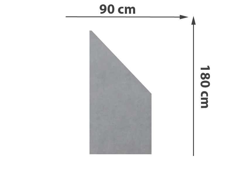 TraumGarten Sichtschutzzaun System Keramik Anschluss Zement - 90 x 180/90 x 0,6 cm