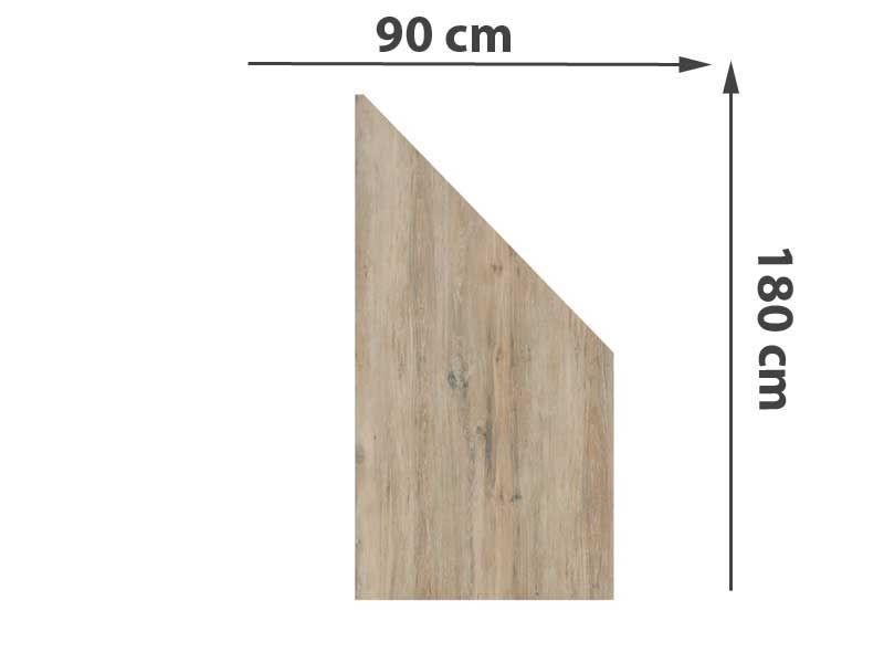 TraumGarten Sichtschutzzaun System Keramik Anschluss Eiche - 90 x 180/90 x 0,6 cm