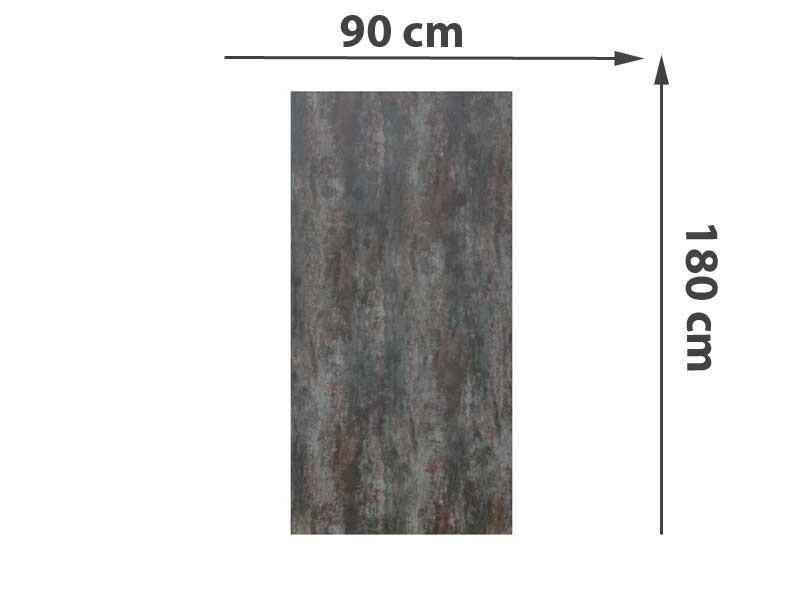 TraumGarten Sichtschutzzaun System Keramik Rechteck Darknight - 90 x 180 x 0,6 cm