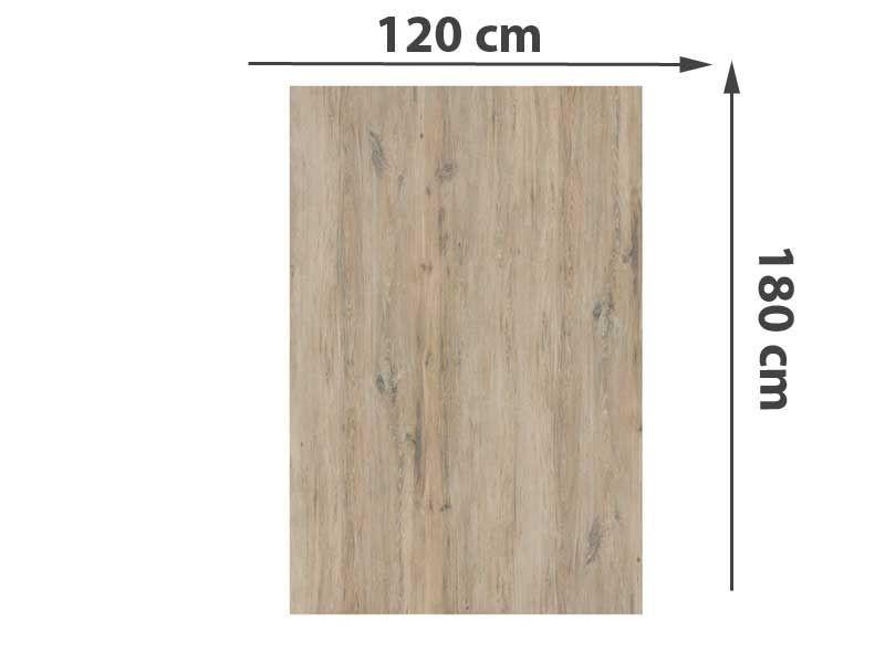 TraumGarten Sichtschutzzaun System Keramik Rechteck Eiche - 120 x 180 x 0,6 cm