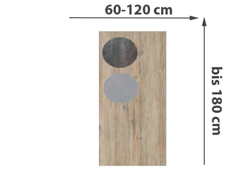 TraumGarten Einzeltor Maßanfertigung System Keramik - Farbe und Größe frei wählbar