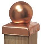 TraumGarten Pfostenkappe Kupfer Kugel - 9 x 9 cm