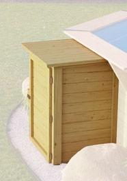 Technikbox für Karibu Pool kesseldruckimprägniert 87x71x121 cm