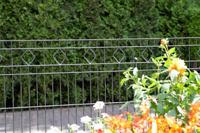 Schmuckzaun Rezidenz Barcelona silbergrau verzinkt - Höhe: 830 mm