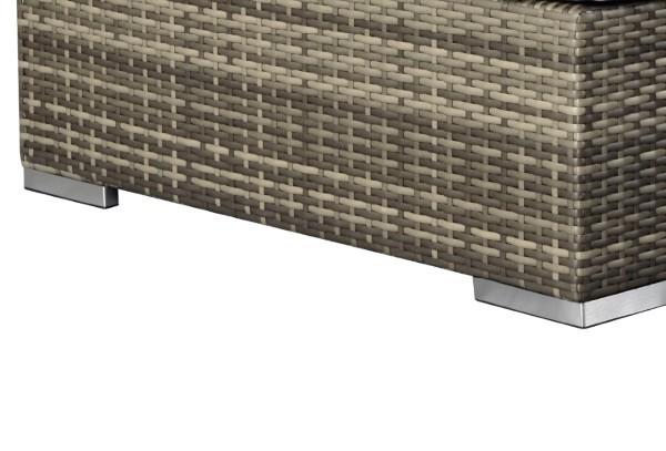 Balkonmöbel Set Rattan Lounge 2-teilig in grau-braun-meliert inkl. Kissen und Polster