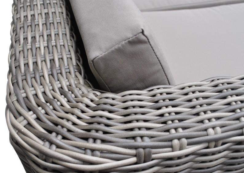 Rattan Loungegruppe Turino Balkonmöbel Set Gartensofa - 2-teilig - graubraun-meliert