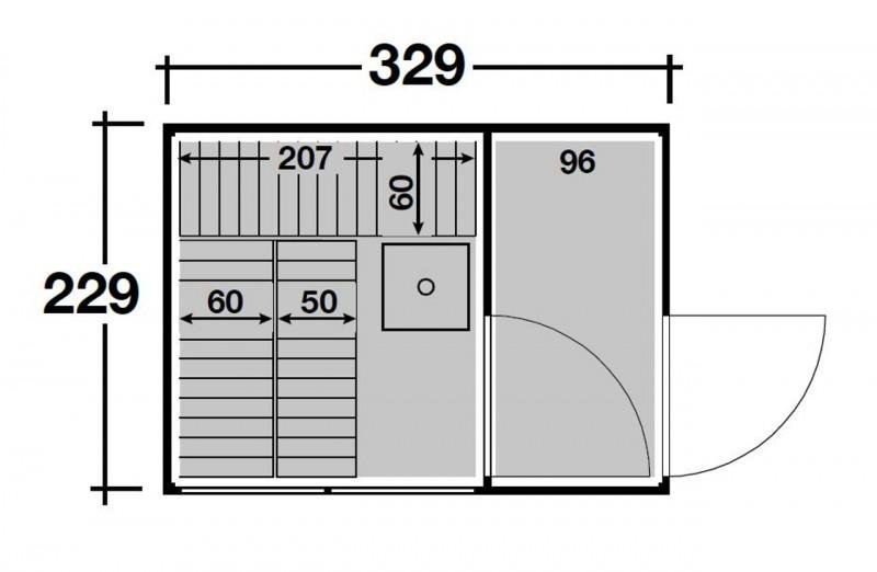 Wolff Finnhaus Gartensauna Saunahaus Sauna Paradiso 3x2 (2-Raum) - Design-Saunahaus