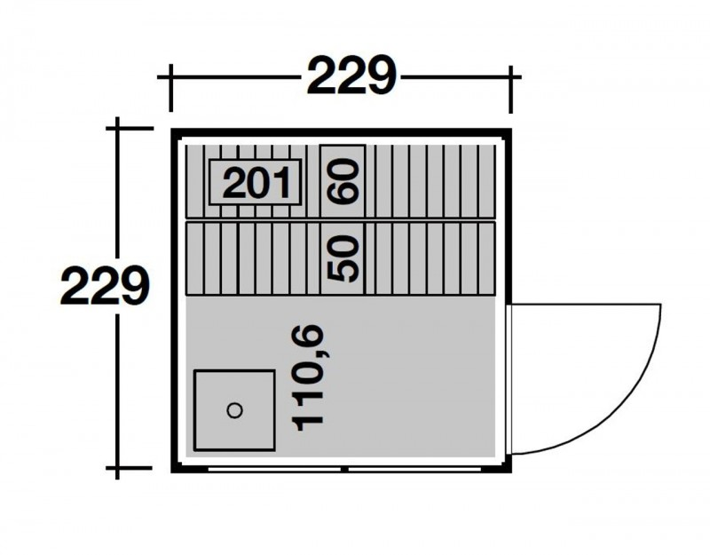 Wolff Finnhaus Gartensauna Saunahaus Sauna Paradiso 2x2 - Design-Saunahaus