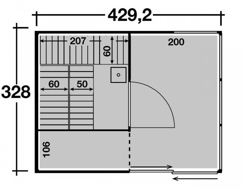 Wolff Finnhaus Gartensauna Saunahaus Sauna Paradiso 4x3 (2-Raum) - Design-Saunahaus