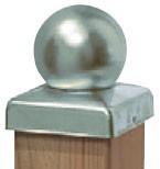 TraumGarten Pfostenkappe Kugeloptik Edelstahl - 7 x 7 cm