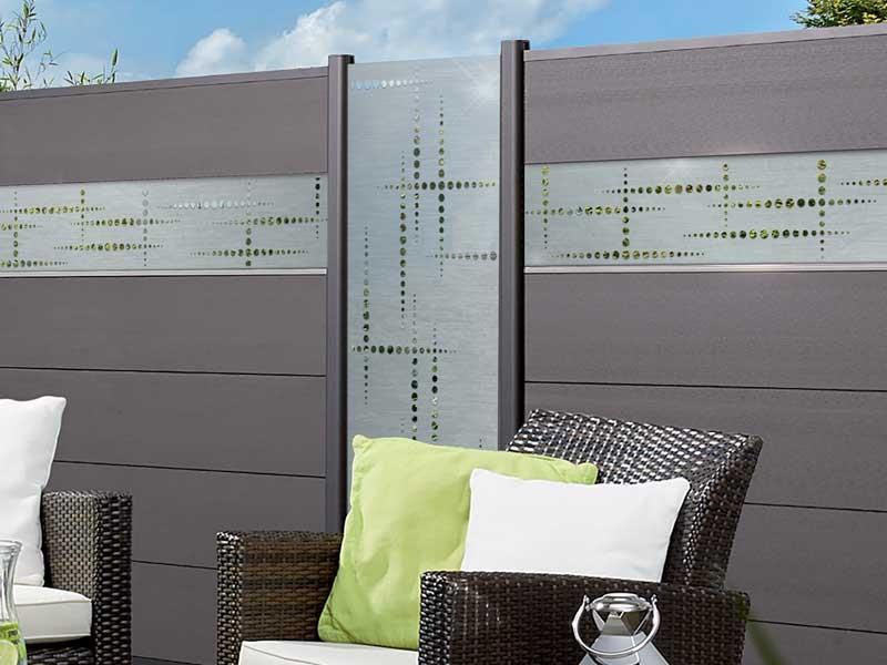 TraumGarten SYSTEM Designgitter Puls Edelstahl 60 x 180 cm