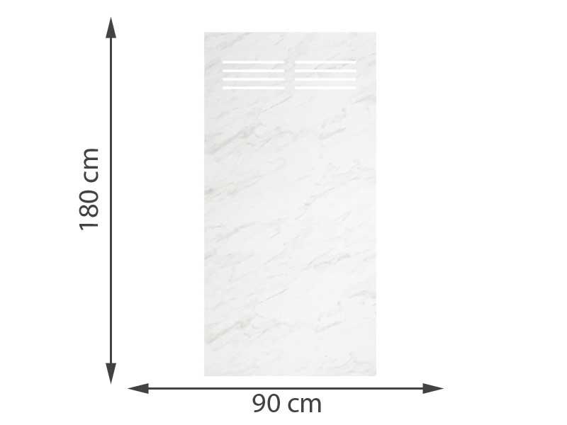 TraumGarten SYSTEM BOARD Aluminium Marmor Rechteck Slot 90 x 180 cm