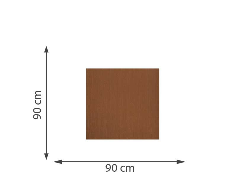 TraumGarten Sichtschutzzaun SYSTEM BOARD Stahl Rost Rechteck 90 x 90 cm