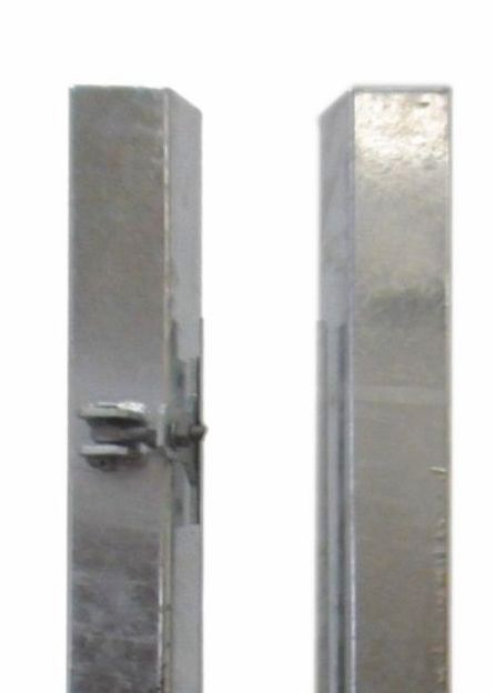 TraumGarten Torpfosten-Set für Einzeltor silber - 8 x 8 x 195 cm