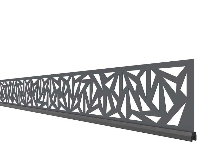 TraumGarten SYSTEM Dekorprofil-Set Trigon Anthrazit Metall/flach 15 cm