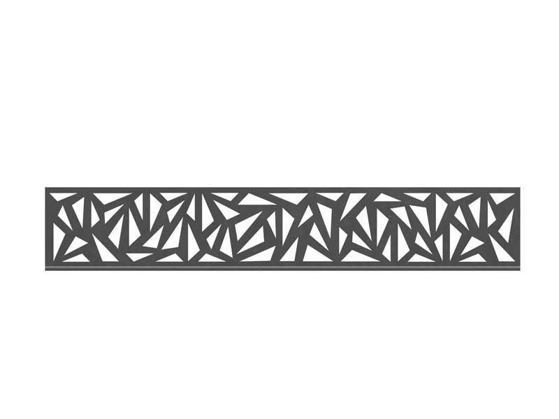 TraumGarten SYSTEM Dekorprofil-Set Trigon Anthrazit Metall/hoch 30 cm