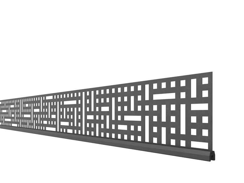 TraumGarten SYSTEM Dekorprofil-Set Quattro Anthrazit Metall/flach 30 cm