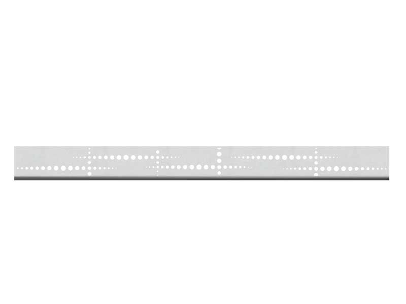 TraumGarten SYSTEM Dekorprofil-Set Puls silber Edelstahl /flach 15 cm