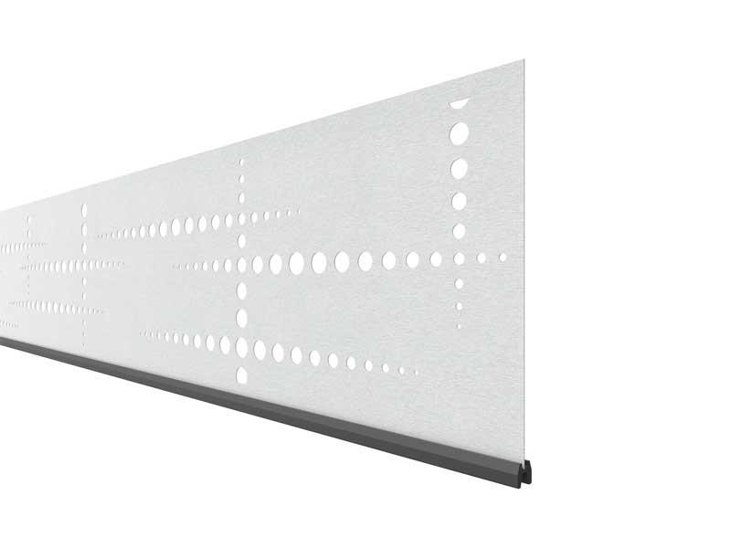 TraumGarten SYSTEM Dekorprofil-Set Puls silber Edelstahl/flach 30 cm